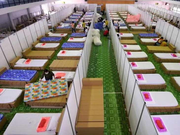 थायलंड : बँकॉकच्या विमानतळाचे ५ हजार खाटांच्या रुग्णालयांत रूपांतर. - Divya Marathi