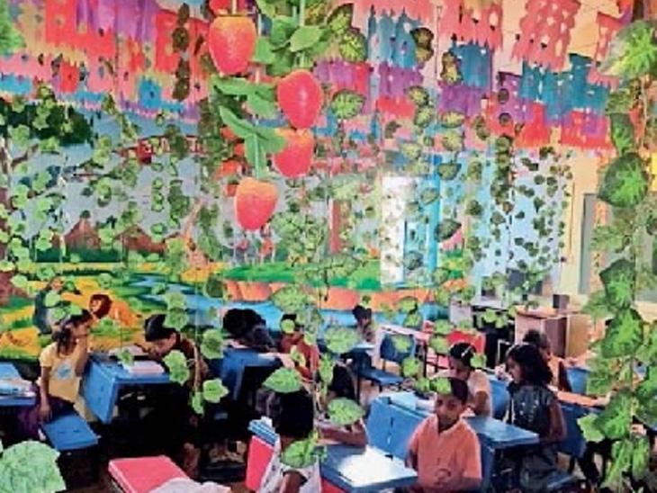 जवळ्यात शिक्षकाने साकारली डिजिटल जंगल क्लासरूम, विद्यार्थ्यांना येतो जंगलाचा अनुभव सोलापूर,Solapur - Divya Marathi