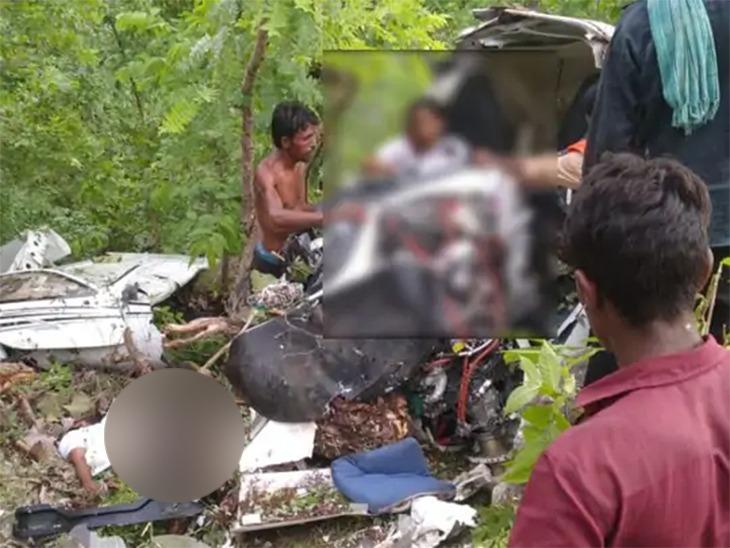 चोपडा तालुक्यात सातपुड्याच्या पायथ्याशी प्रशिक्षणार्थी विमान कोसळले, वैमानिक ठार तर प्रशिक्षणार्थी युवती गंभीर जखमी|जळगाव,Jalgaon - Divya Marathi