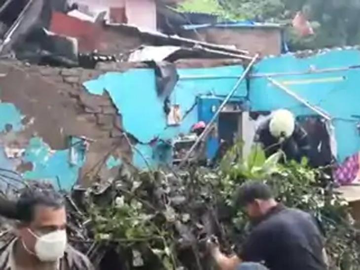 भूस्खलनामुळे घरांचे बरेच नुकसान झाले आहे