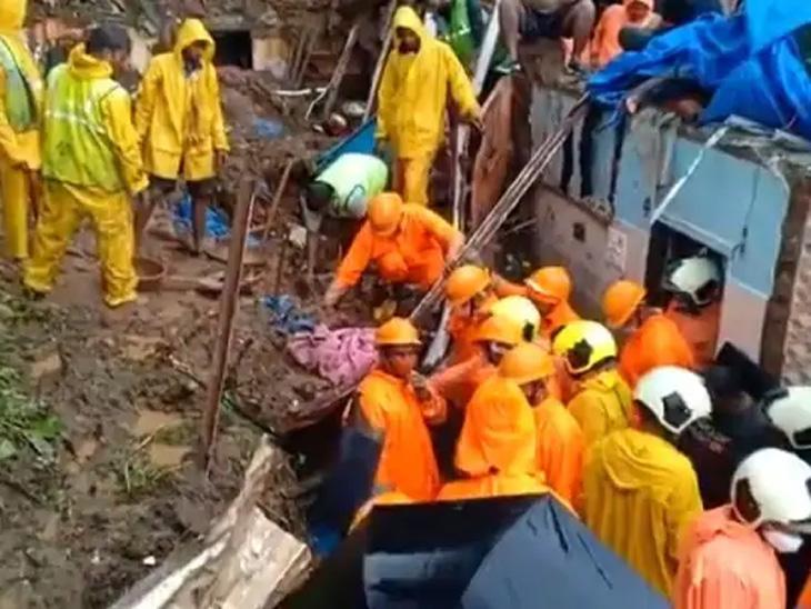 एनडीआरएफची टीम मदत व बचाव कामात व्यस्त आहे.