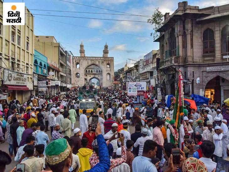 हैदराबादमधील सय्यद शाह युसुफुद्दीनच्या दर्गा येथे दूरदूरहून येणार्या लोकांचा क्रम सुरु आहे.