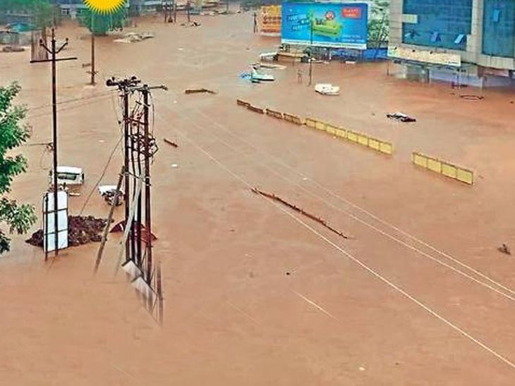 चिपळूणला 48 तासांत 300 मिमी पाऊस, 5 हजार लोक पुरात अडकले; विदर्भातही धो-धो पाऊस, तीन जण पुरात वाहून गेले औरंगाबाद,Aurangabad - Divya Marathi