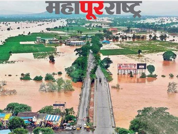 परिस्थिती भयाण; महापुराचे पाणी घराघरांत शिरले, लाखोंचे नुकसान, इंद्रायणीने धोक्याची पातळी ओलांडली, अनेक ठिकाणी झाडे कोसळली|कोल्हापूर,Kolhapur - Divya Marathi