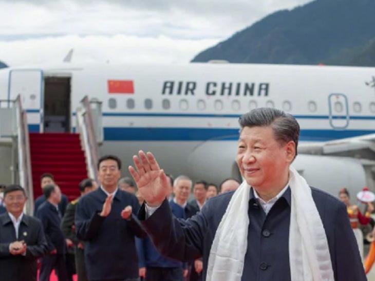 राष्ट्रपती जिनपिंग यांनी तिबेटचा केला दौरा,ब्रह्मपुत्र नदीवरील प्रकल्पाचा आढावा|विदेश,International - Divya Marathi