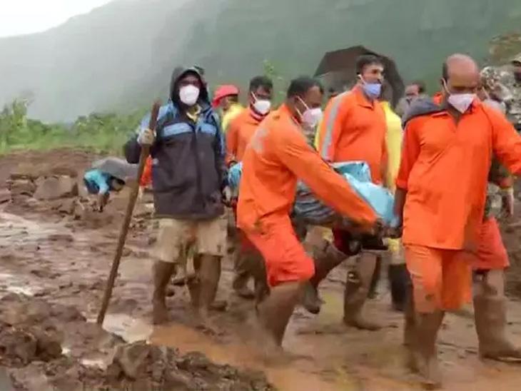 मृतदेहांचे अवयव हाती लागत असल्याने तळियेत मदतकार्य थांबले, 53 जणांचे मृतदेह ढिगाऱ्यातून बाहेर काढण्यात मिळाले यश|कोल्हापूर,Kolhapur - Divya Marathi