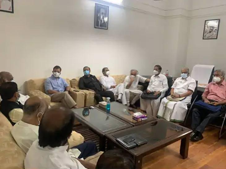 14 पक्षांच्या संयुक्त बैठकीनंतर राहुल गांधी म्हणाले - हेरगिरी, महागाई आणि शेतकऱ्यांच्या मुद्यांवर तडजोड नाही देश,National - Divya Marathi