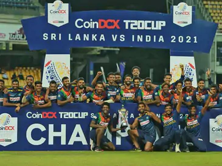 यजमान श्रीलंकेने पहिल्यांदाच भारतीय संघाविरुद्ध जिंकली टी-20 मालिका; भारतावर 7 गड्यांनी मात; हसरंगा ठरला मालिकावीर व सामनावीर|क्रिकेट,Cricket - Divya Marathi