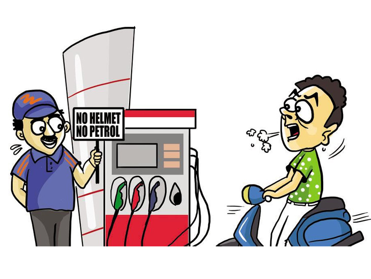 15 ऑगस्टपासून 'नो हेल्मेट, नो पेट्रोल', पेट्रोलपंपावर 15 दिवस राहणार पोलिस बंदोबस्त|नाशिक,Nashik - Divya Marathi