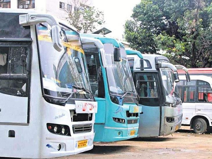 कोरोनाच्या लाटांनी खासगी बस व्यवसायाचे चाकच निखळले, अनेकांनी बस विकल्या|औरंगाबाद,Aurangabad - Divya Marathi