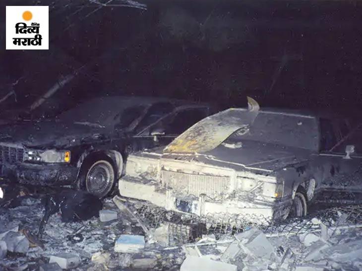 9/11 च्या हल्ल्याचे हे चित्रही प्रथमच जगासमोर आले आहे. चित्रात, यूएस सिक्रेट सर्व्हिसच्या न्यूयॉर्क फील्ड ऑफिसच्या तळघरात पार्क केलेली आर्मर्ड लिमोझिन वाहने दिसत आहेत. हे कार्यालय WTC च्या जवळ होते.
