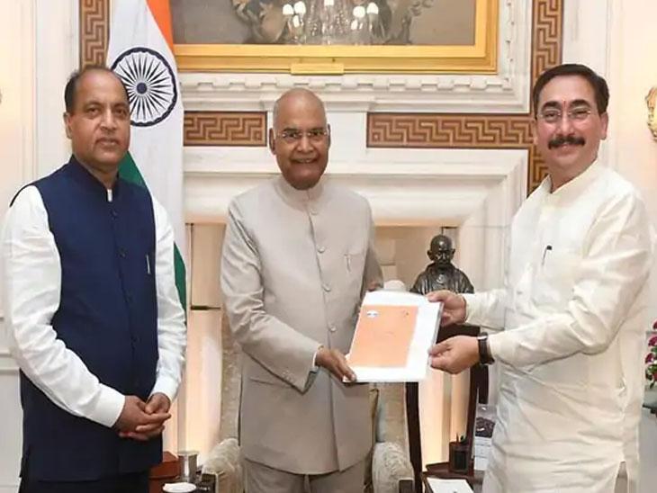 4 दिवसांपूर्वी दिल्लीला गेलेले मुख्यमंत्री जयराम ठाकूर यांनी राष्ट्रपती रामनाथ कोविंद यांची भेट घेतली होती