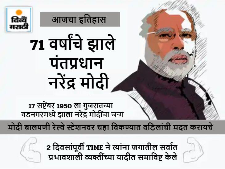 स्वतंत्र भारतात जन्म घेणारे देशातील पहिले पंतप्रधान मोदींचा आज वाढदिवस, भाजपत आल्याच्या 16 वर्षांनंतर CM आणि 29 वर्षांनंतर PM बनले देश,National - Divya Marathi