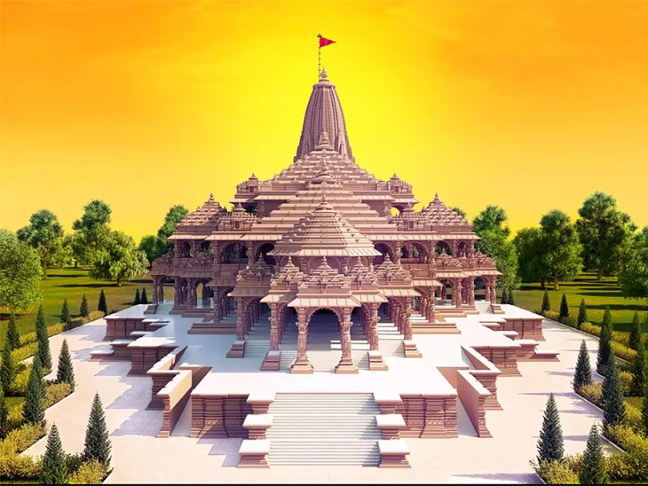 राम मंदिराचा पाया तयार, आता 161 फूट उंच पाच शिखरे उभारली जाणार देश,National - Divya Marathi