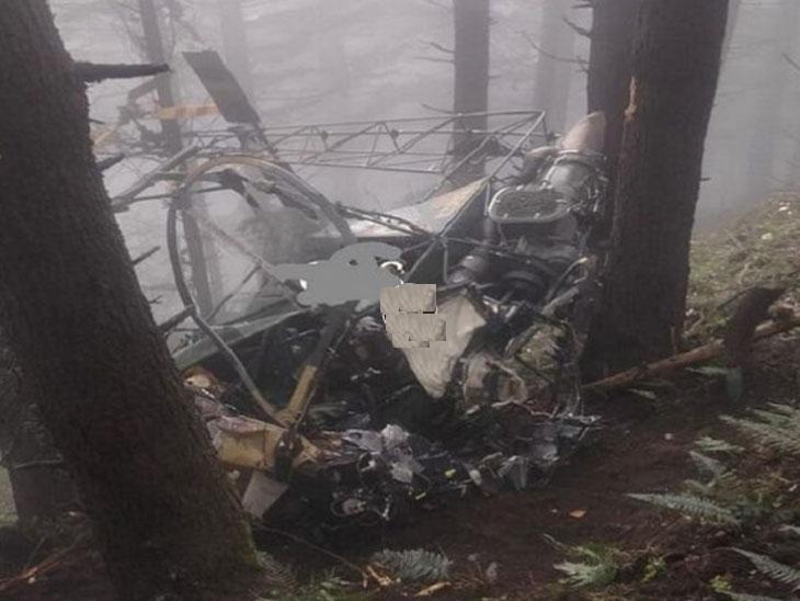 जम्मूमध्ये लष्कराच्या हेलिकॉप्टरला भीषण अपघात, दोन्ही वैमानिक ठार; खराब हवामानामुळे दुर्घटना!|देश,National - Divya Marathi