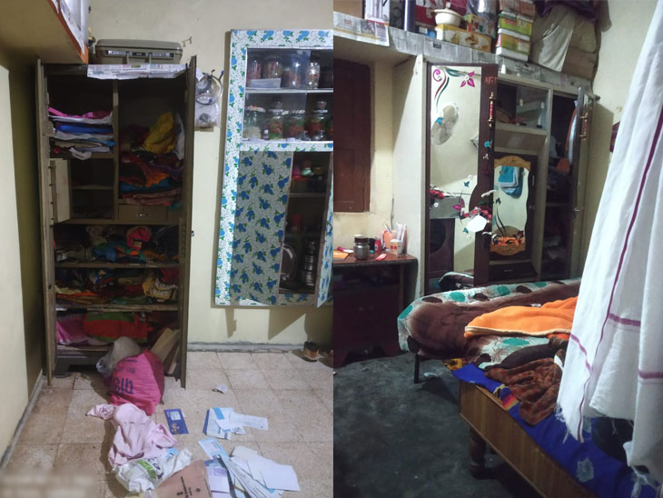 दरोडेखोरांनी साव यांच्या घरातील लोखंडी कपाट फोडून ऐवज लंपास केला आहे. - Divya Marathi