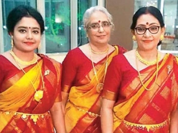 डावीकडून...पॉलोमी, सेमांती, नंदिनी - Divya Marathi