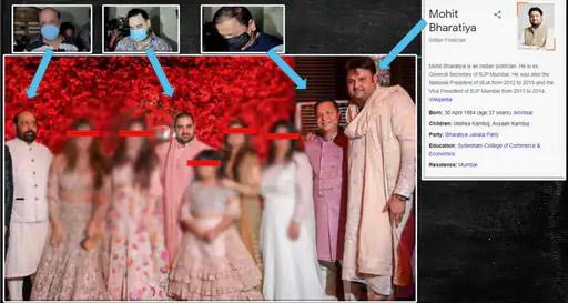 नवाब मलिक यांनी पत्रकार परिषदेत आपला दावा सिद्ध करण्यासाठी काही फोटो दाखवले. त्यातील स्क्रीनशॉट.