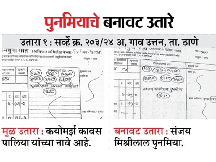पुनमियाच्या जमीन खरेदीतील बनावट उतारा सरकारी फाइलमधून गायब, अन्य तीन उतारेही एनए प्लॉट्सचे|नाशिक,Nashik - Divya Marathi