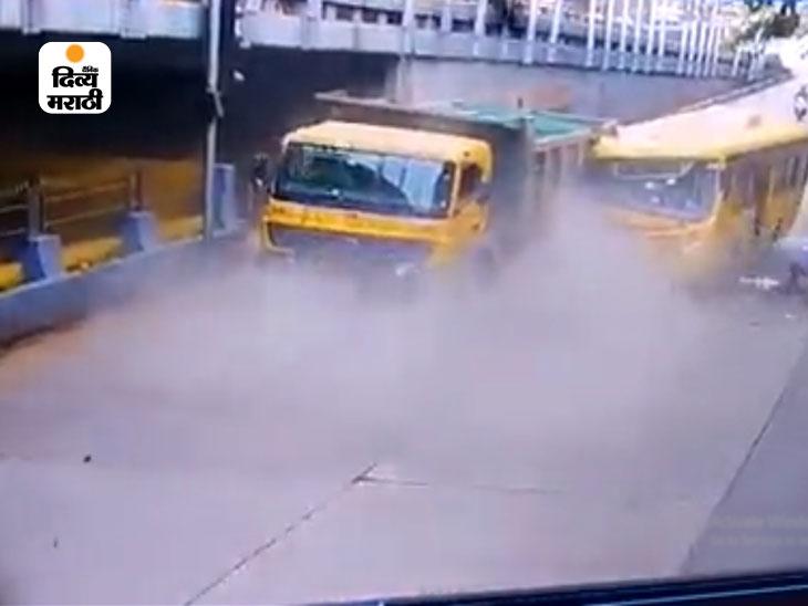 मुंबईत दादर टीटी उड्डाणपूलाजवळ बेस्ट बसचा भीषण अपघात, 8 जण जखमी;सीसीटिव्हीत कैद झाला अपघाताचा व्हिडिओ|मुंबई,Mumbai - Divya Marathi