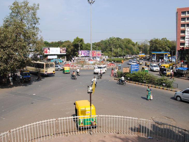 રાજકોટમાં હોસ્પિટલ ચોકમાં પિલર પર બનશે બ્રિજ, જે 712 મીટર લાંબો હશે| - Divya Bhaskar