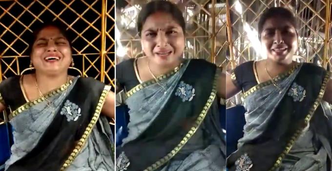 ચકડોળમાં બેસતા જ આન્ટીના એક્સપ્રેશન બદલાયાં, પતિએ વીડિયો ઉતારી લીધી મજા| - Divya Bhaskar