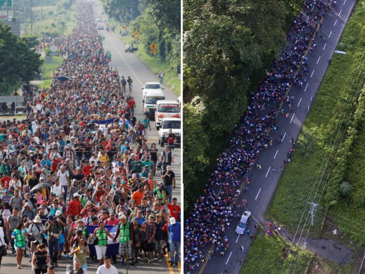 USમાં પ્રવેશ મેળવવા 7,000 લોકોનો રઝળપાટ, ટ્રમ્પની ટ્વીટઃ એલિયન્સને અટકાવવા બોર્ડર બંધ કરો  - Divya Bhaskar