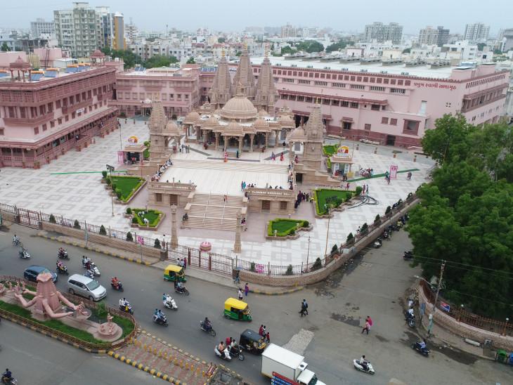રાજકોટ/BAPS સ્વામિનારાયણ મંદિરને 20 વર્ષ પૂર્ણ, દેશની 200 નદી-સરોવરના પાણીથી પાટોત્સવ વિધિ  - Divya Bhaskar