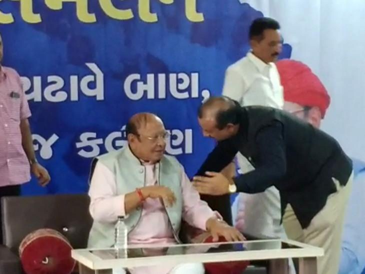 શંકરસિંહ વાઘેલા રાજકોટની મુલાકાતે આવ્યા - Divya Bhaskar