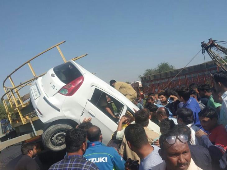 ભરૂચ નજીક NH-48 પર ટ્રેલરે કારને અડફેટે લીધી, બે ઇજાગ્રસ્ત ભરૂચ,Bharuch - Divya Bhaskar