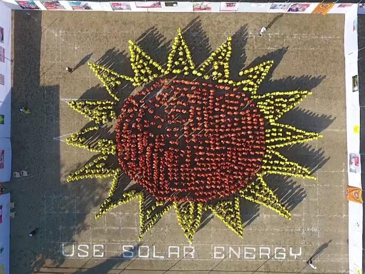 સૌર ઊર્જા મુદ્દે વલસાડ કોલેજનો ત્રીજો વર્લ્ડ રેકોર્ડ|વલસાડ,Valsad - Divya Bhaskar