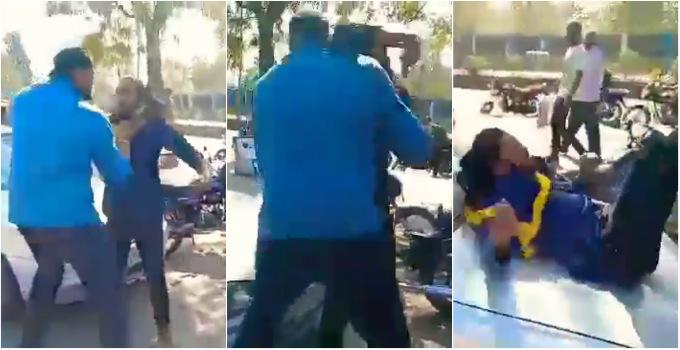 પાલનપુરનું કૉલેજ કેમ્પસ અખાડો બન્યું, બે રેસલર જાહેરમાં બાખડી પડ્યા, ગુસ્સે થયેલા રેસલરે અન્યને બોનેટ પર પટક્યો  - Divya Bhaskar