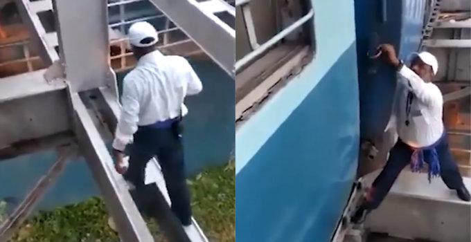 જાંબાઝ રેલ્વે ગાર્ડે ફરજ માટે પોતાની જીંદગી દાવ પર મુકી, સાંકડી ગડર પર ચાલીને ટ્રેનનો એલાર્મ ડિસેબલ કર્યો પછી જ ટ્રેન આગળ ચાલી શકી| - Divya Bhaskar