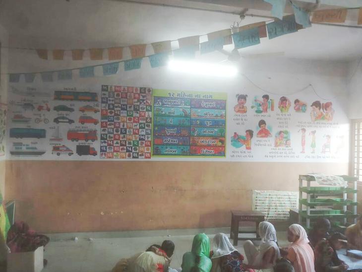 સુરતમાં વર્ગખંડની ચાર દીવાલો પર વિદ્યાર્થીઓને ઉપયોગી આકર્ષિત ચિત્રની મદદથી શિક્ષણ આપવાનો પ્રયાસ|સુરત,Surat - Divya Bhaskar