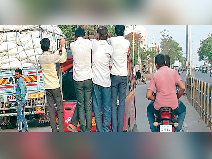 ઘોઘા રોડ પરથી 20 હજાર લોકોની દરરોજ જોખમી અને ગેરકાયદે મુસાફરી|ભાવનગર,Bhavnagar - Divya Bhaskar