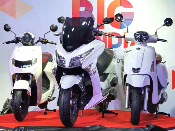 તાઇવાનની કંપનીએ ભારતમાં ત્રણ સ્કૂટર લોન્ચ કર્યાં, ઈલેક્ટ્રિક સ્કૂટરની બેટરી ભાડે મળશે|ઓટોમોબાઈલ,Automobile - Divya Bhaskar