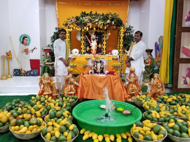 ગોકુલધામમાં શ્રીનાથજી અને શ્રી કલ્યાણરાયજી સન્મુખ આમ્ર મહોત્સવ ઉજવાયો| - Divya Bhaskar