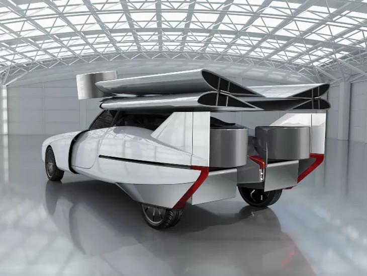 અમેરિકાની સ્ટાર્ટઅપ કંપનીએ ફ્લાઈંગ કારની ડિઝાઈન લોન્ચ કરી, સિંગલ ચાર્જમાં 563 કિમી અંતર કાપશે|ઓટોમોબાઈલ,Automobile - Divya Bhaskar