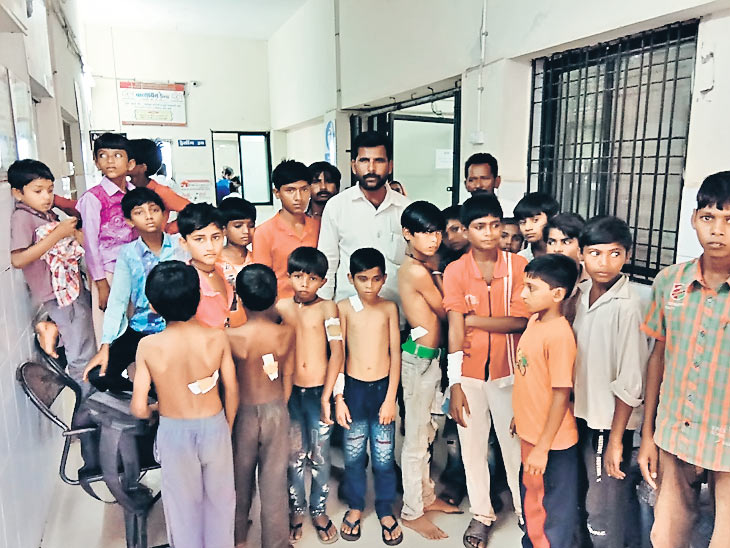 ના પાડી છતાં રમો છો કહી શિક્ષક વર્ગખંડમાં જ 20 વિદ્યાર્થીઓ પર લાકડી લઇ તુટી પડ્યો, 15 છાત્રોને હોસ્પિટલ ખસેડાયા|સુરેન્દ્રનગર,Surendranagar - Divya Bhaskar