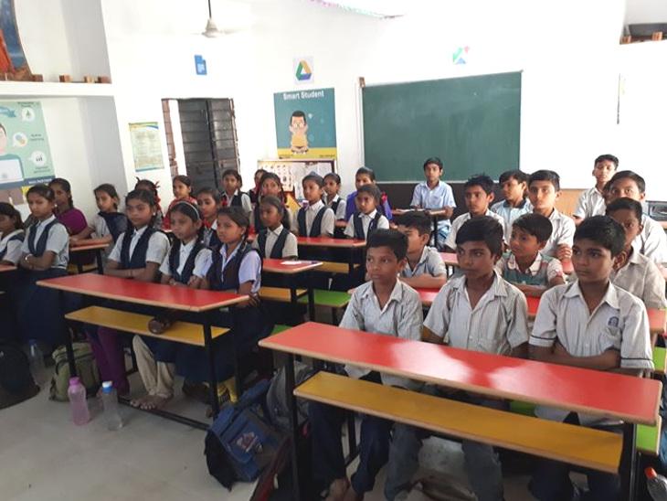 ખાનગી શાળાઓનાં વળતા પાણી, હાલારમાં આ વર્ષે 2679 બાળકોએ સરકારી શાળામાં પ્રવેશ લીધો|જામનગર,Jamnagar - Divya Bhaskar