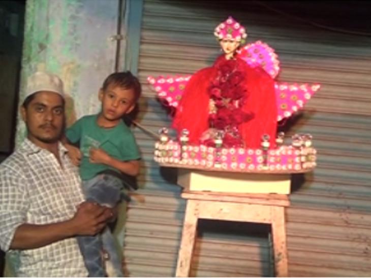 કલાત્મક રંગબેરંગી તાજીયાના જુલુસ નીકળ્યા,પોલીસે ચાંપતો બંદોબસ્ત ગોઠવ્યો સુરત,Surat - Divya Bhaskar