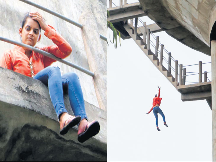 વિદ્યાર્થિની 70 ફૂટ ઊંચી ટાંકી પર ચઢી, એક કલાક સુધી બેસી રહ્યા બાદ મોતની છલાંગ લગાવી|ઈન્ડિયા,National - Divya Bhaskar