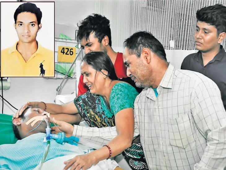 બ્રેનડેડ 25 વર્ષીય યુવકનાં કિડની-લિવર અને ચક્ષુનું દાન કરી માનવતા મહેકાવી સુરત,Surat - Divya Bhaskar