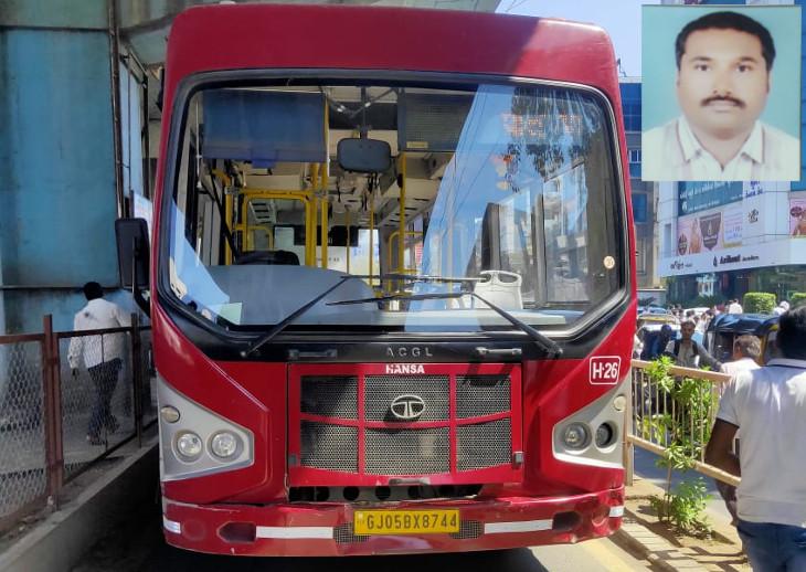 સાળાની ખબર અંતર પૂછવા હોસ્પિટલ આવેલા આધેડને BRTSએ અડફેટે લેતાં મોત સુરત,Surat - Divya Bhaskar