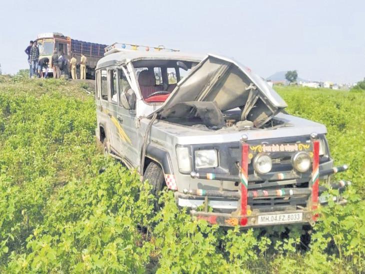 સોનગઢ-વ્યારા હાઈવે પર ટાયર ફાટતા પુરપાટ જતી જીપ પલટી ગઇ, 2 મુસાફરોનાં મોત|સુરત,Surat - Divya Bhaskar