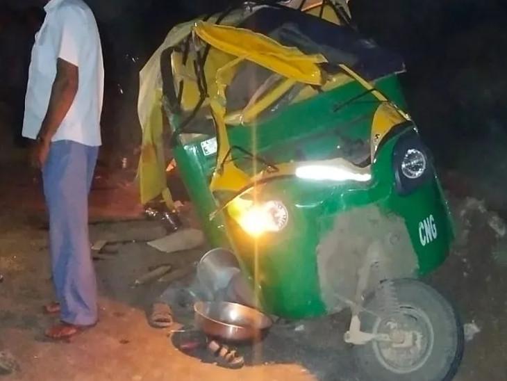 બરવાળા નજીક બોટાદ પોલીસની કાર સાથે રિક્ષા ધડાકાભેર અથડાતા 3 મુસાફરના મોત, 3ને ગંભીર ઇજા|ભાવનગર,Bhavnagar - Divya Bhaskar