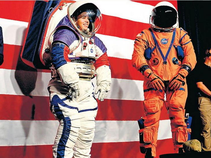 નાસાએ નવો સ્પેસ સૂટ રજૂ કર્યો, વર્ષ 2024ના ચંદ્રમિશનમાં તેનો ઉપયોગ થશે| - Divya Bhaskar