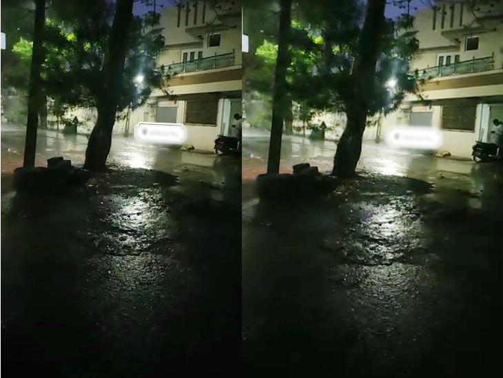 સોમનાથ વેરાવળમાં ધોધમાર વરસાદ - Divya Bhaskar