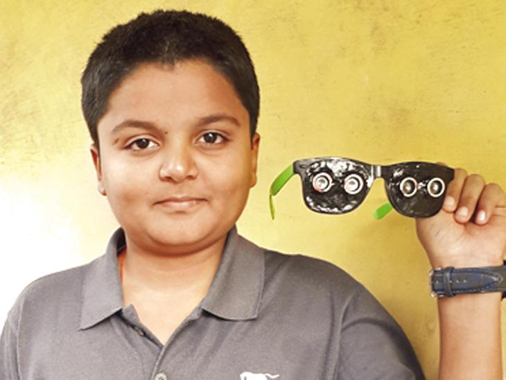 ટાબરીયાએ અંધજનો માટે ગોગલ્સ બનાવ્યાં, 5 મીટર દુર અડચણ હશે તો વાઈબ્રન્ટ સિગ્નલ આપશે| - Divya Bhaskar