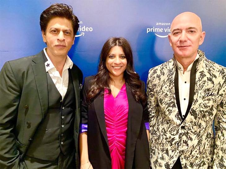 શાહરુખ ખાને એમેઝોનના CEO જેફ બેજોસ પાસે 'ડોન' ફિલ્મનો ડાયલોગ બોલાવડાવ્યો  - Divya Bhaskar